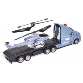 AMAX COMBO HELICOPTERO Y TRAILER RC GRIS