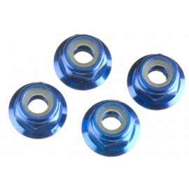 Traxxas Nuts 4mm Flanged Nylon Locking (4)