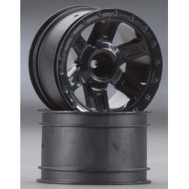 """Pro-Line Desperado 2.2"""" Black Fr/Re Wheels 1/16 E-Revo"""