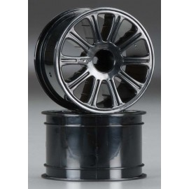 "JConcepts Rulux 2.2"" Wheel Black 1/16 E-Revo (2)"
