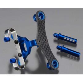 Integy Billet Mach Fr Body & Pin Mount Blue 1/16 E-Revo