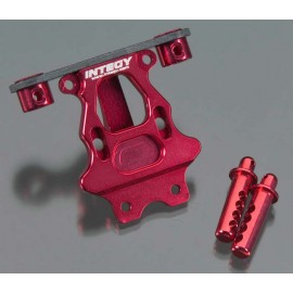 Integy Billet Mach Rear Body/Pin Mount Red 1/16 E-Revo