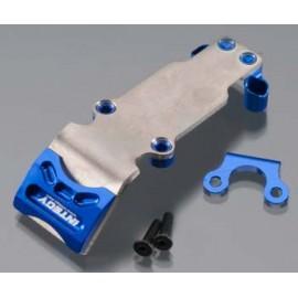 Integy Billet Mach Ti Rear Skid Plate Blue 1/16 E-Revo
