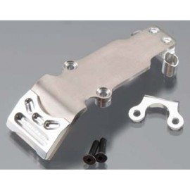 Integy Billet Mach Ti Rear Skid Plate Slvr 1/16 E-Revo
