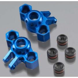 Integy Billet Mach Steering Block Blue 1/16 E-Revo (2)