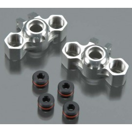 Integy Billet Mach Steering Block Silver 1/16 E-Revo(2)