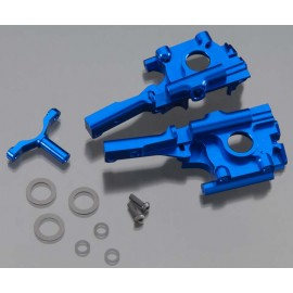 Integy Billet Mach Front Bulkhead Blue 1/16 E-Revo/Slsh
