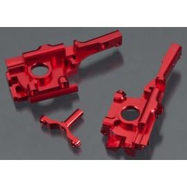 Integy Billet Mach Front Bulkhead Red 1/16 E-Revo/Slash