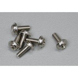 Traxxas Washer Head Machine Screws 3x8mm Nitro Hawk (6)