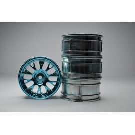 1/10 RC Car Metallic Plate Wheel Set (Medium turquoise)