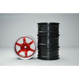 1/10 RC Car 6 Spoke 3mm Offset 26mm Drift Wheel Rim Set