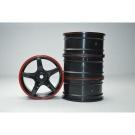 1/10 RC Car 5 Spoke 3mm Offset 26mm Drift Wheel Rim Set