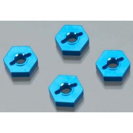 Golden Horizons Alum Hex Wheel Hub Blue 1/16 E-Revo (4)