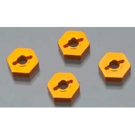 Golden Horizons Alum Hex Wheel Hub Orange 1/16 E-Revo(4
