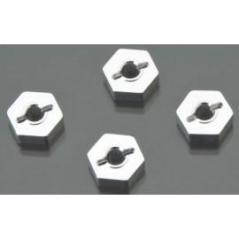 Golden Horizons Alum Hex Wheel Hub Silver 1/16 E-Revo(4