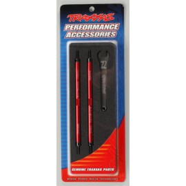Traxxas Lightweight Aluminum Turnbuckle Red Revo (2)