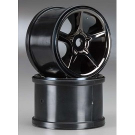"Traxxas Gemini 3.8"" Wheels Black Chrome (2)"