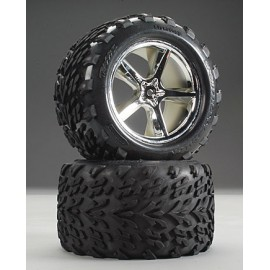 "Traxxas Talon 3.8"" Tire On Gemini Wheel T-Maxx/Revo (2)"