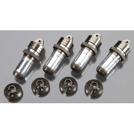 Integy Threaded Shock Body Assembly Silver Revo/Jato(4)