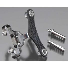 Integy Billet Mach Fr Body & Pin Mount Slvr 1/16 E-Revo