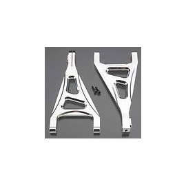 Integy Billet Mach Front Upper Arm Slvr 1/16 E-Revo VXL