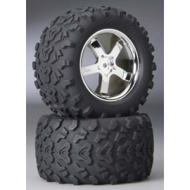 "Traxxas 3.8"" Tires On Hurricane Chrome T-Maxx 3.3 (2)"