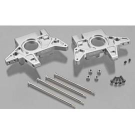 Integy T7 Rear Bulkhead Set Silver E-Maxx/T-Maxx