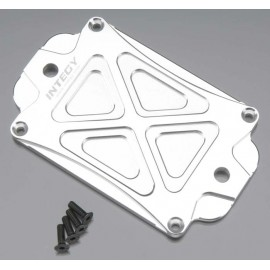 Integy Evolution-5 Center Skid Plate Silver T-Maxx