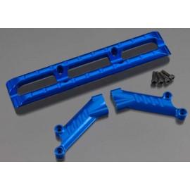 Integy Aluminum Rear Bumper Blue T/E-Maxx