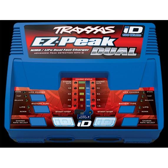 Traxxas EZ-Peak Plus 8A NiMH/LiPo Dual Charger w/iD