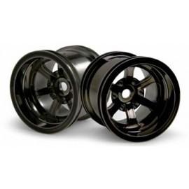 HPI Racing Scorch 6-Spoke Wheel Black Chrome (2)