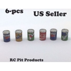 RC 1/10 Scale Accessories 6 Pack Of Soda in Alum Cans for RC