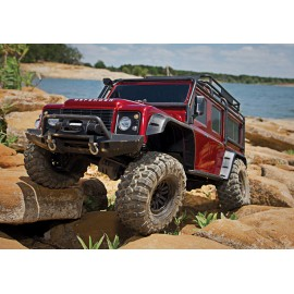 Trx-4 Scale & Trail Crawler Defender 4wd Red RTR W/ TQi Radio