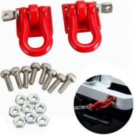 1 Pair Scale Hook Shackles Red 2pcs for RC SCX-10 Crawler Truck