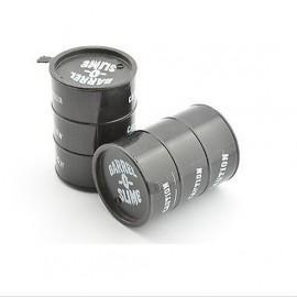 black scale fuel drum