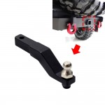 Black CNC Aluminum Tow Trailer Drop Hitch Receiver For TRAXXAS TRX-4 Crawler