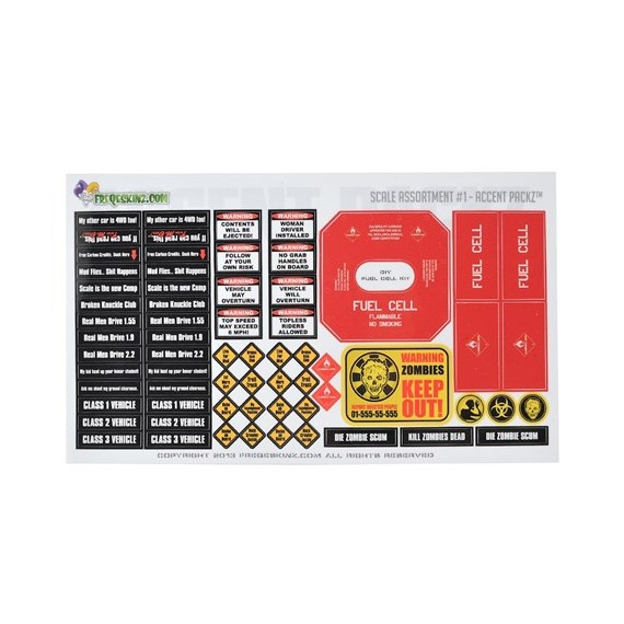 Freqeskinz Scale Assortment  1/10 Scale Decals