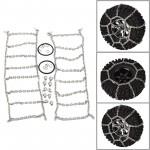 2PCS Metal Antiskid Tires Snow Chains for 1/10 TRAXXAS TRX4 TRX-4 RC Crawler Car