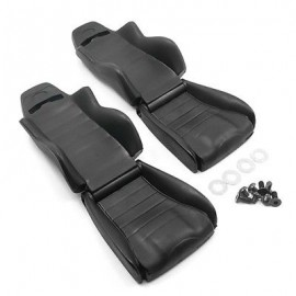 Yeah Racing Hard Plastic Seats 2pcs 1:10 EP RC Cars Crawler Truck Black