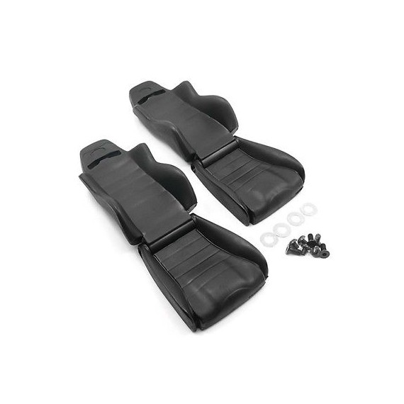 Yeah Racing Hard Plastic Seats 2pcs 1:10 EP RC Cars Crawler Truck Black