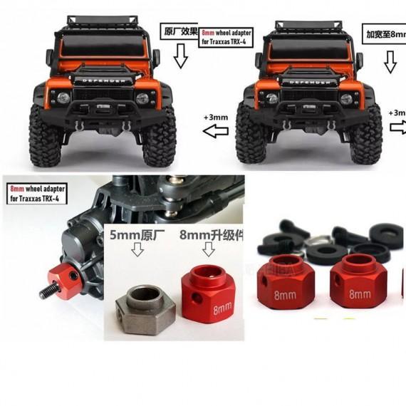 Adapter Widening Set for 1/10 TRAXXAS TRX-4 TRX4 RC Trucks Wheels