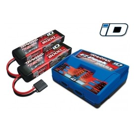 Battery/charger completer pack  5000mAh 11.1V 3-cell 25C LiPo battery (2))
