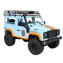 MN 99 2.4G 1/12 4WD RTR Crawler RC Car Off-Road Buggy For Land Rover Vehicle Model - AZUL