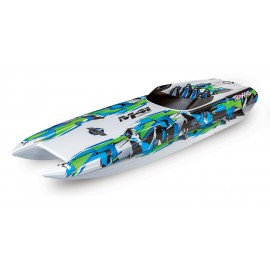 "Traxxas DCB M41 Widebody 40"" Catamaran High Performance 6S Race Boat (Green)"