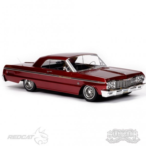SixtyFour - Fully Functional 1:10 Scale Ready to Run Hopping Lowrider RED