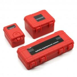 Caja De Almacenamiento Accesorios Oruga de plástico resistente para 1/10 RC coche Traxxas TRX4 ROJO