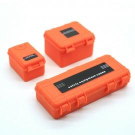 Caja De Almacenamiento Accesorios Oruga de plástico resistente para 1/10 RC coche Traxxas TRX4 NARANJA