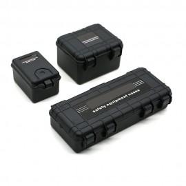 Caja De Almacenamiento Accesorios Oruga de plástico resistente para 1/10 RC coche Traxxas TRX4 NEGRO