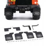 Accesorios de coche RC Metal Goma Fender Lodo Delantero Trasero Para 1/10 RC Crawler TRX-4