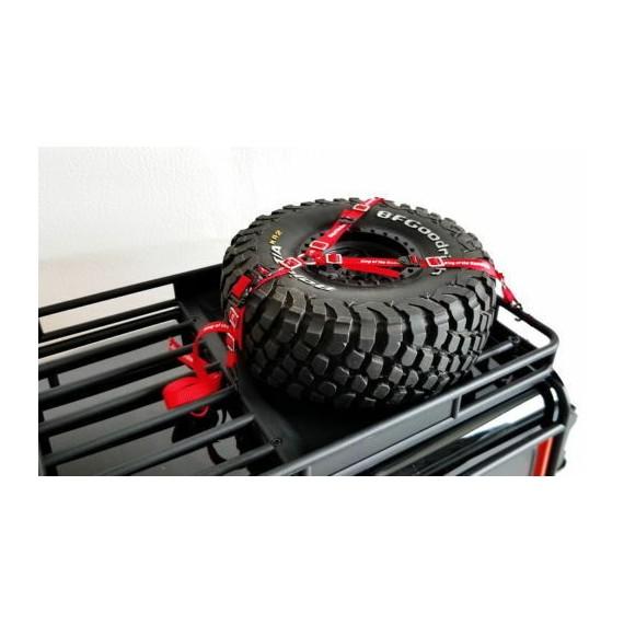 1/5 1/10 Radio Control 3-Way Neumático De Repuesto Corbata Cinturón de seguridad hacia abajo Correa Crawler  ROJO